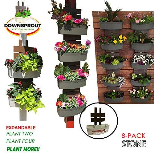 Downsprout Vertical Planter, Gutter Garden, Post Planter, Pergola Post Planter, Deck Planter, Living Wall (8) by Downsprout Vertical Garden