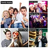 Wireless Bluetooth Karaoke Microphone for Kids, Portable Karaoke Player Machine with Speaker, Karaoke Mic for Home Party Music Singing Playing, Support iPhone Android IOS Smartphone PC iPad (Silver)