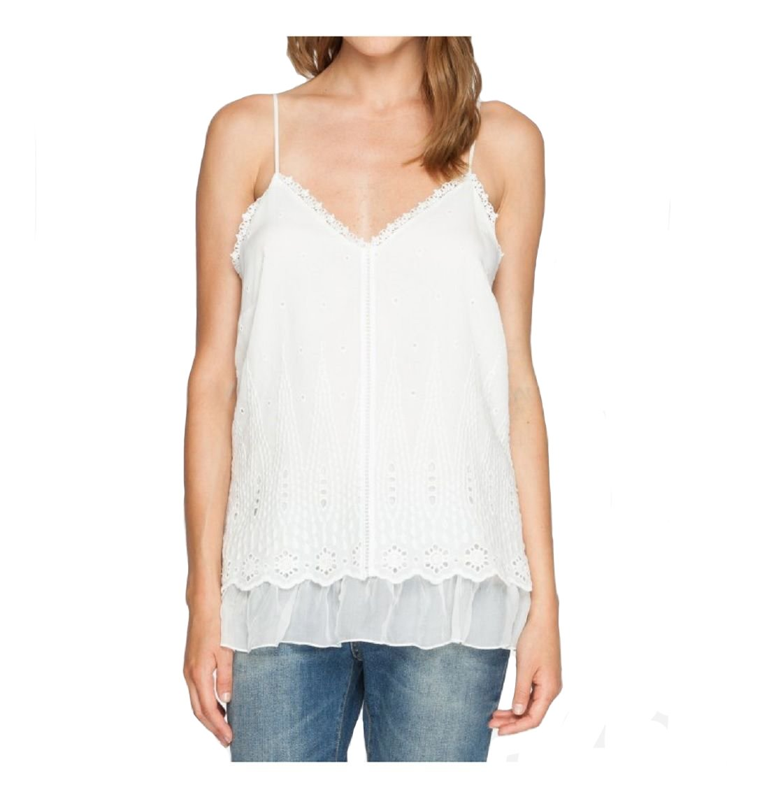 Love and Liberty By Johnny Was Summer Blossom Cami - 1870LL (Large, White)