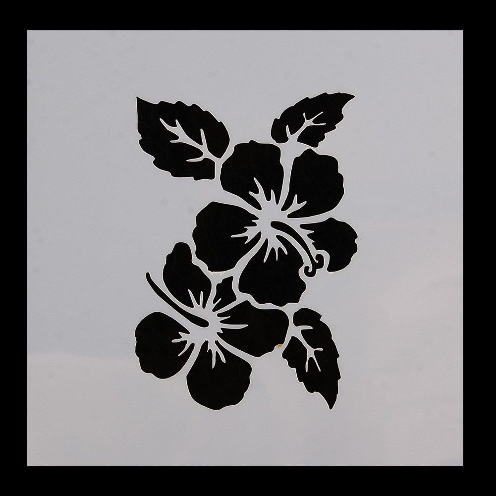 Amazon hawaiian hawaii aloha lei flower pattern print stencil amazon hawaiian hawaii aloha lei flower pattern print stencil 5 x 5 quality stencils from bakell izmirmasajfo