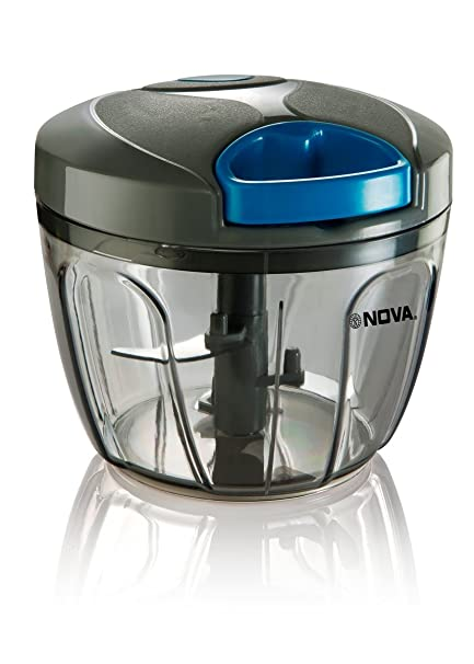 Nova Quick Cut Big Plastic Handy Chopper, 650ml, Grey