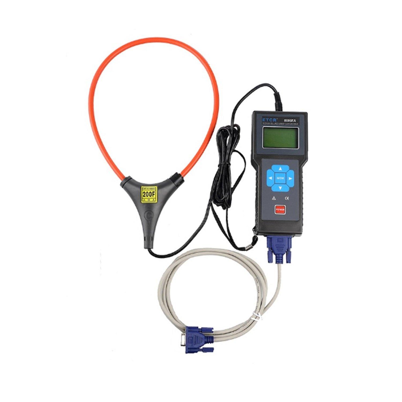 Lanlanmaoyimg Ammeter Flexible Coil Large Current Clamp/Recorder Current Tester Ammeter ETCR8000FA Precision Measurement