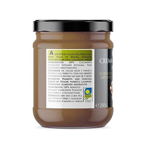 Naturseed Crema de Cacahuete Organica 100% Natural Ecologica - Sin azúcar, Sin Sal, Sin Gluten, Sin Lactosa - Cacahuetes Bio Europeos Crudos con Piel ...
