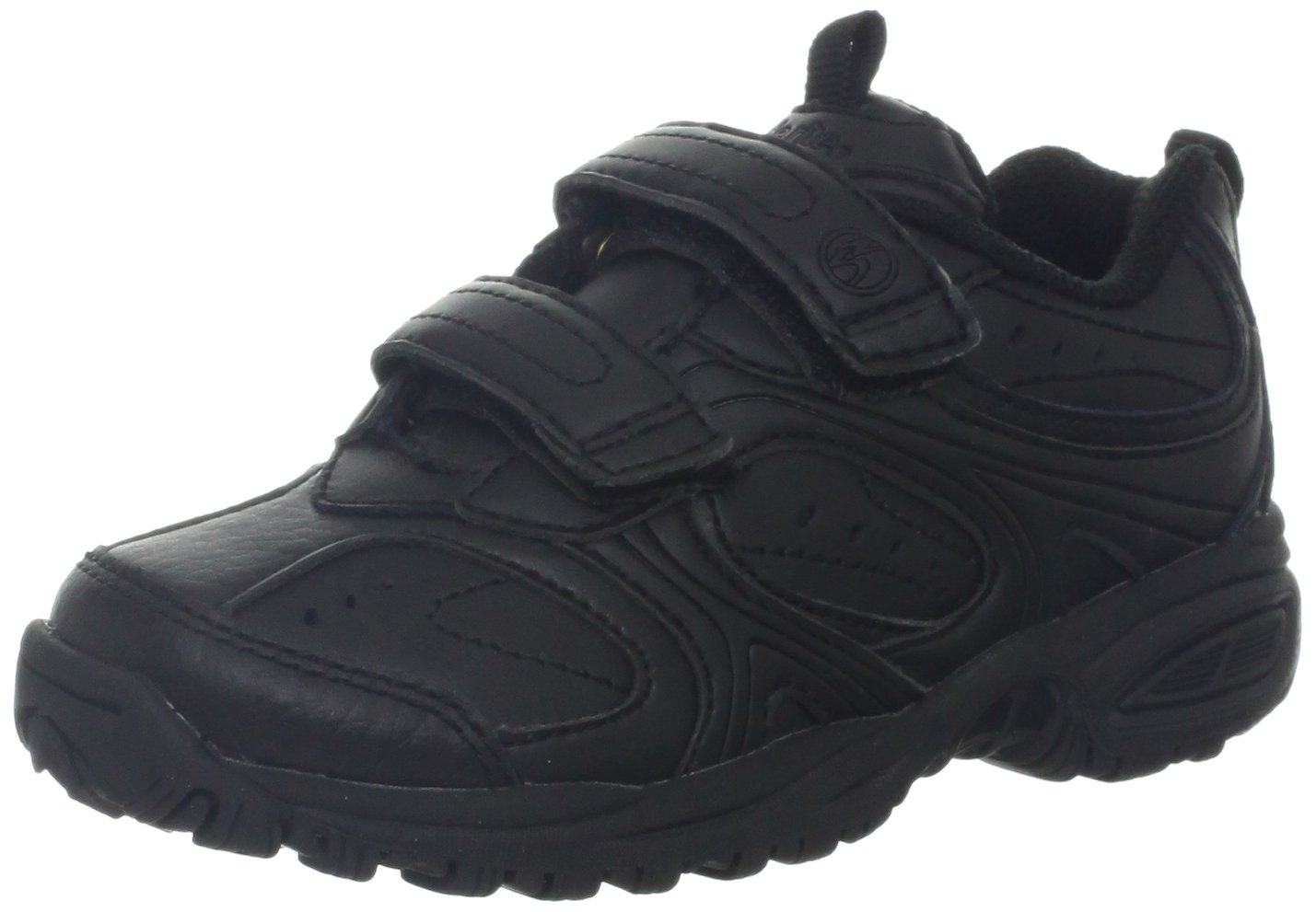 Stride Rite Cooper Hook & Loop Sneaker (Toddler/Little Kid/Big Kid),Black,12 M US Little Kid