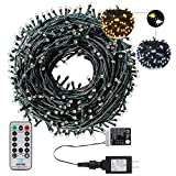 AmyHomie Christmas String Lights, 108Ft 300LED Color Changing Fairy Lights, Outdoor & Indoor Holiday Lights, UL Certified, Garden, Christmas Tree Decor Warm White & White