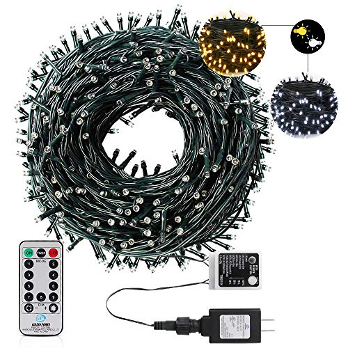 AmyHomie 108Ft 300LED Upgraded Christmas String Lights Outdoor Indoor String Light Weatherproof Decor Light with UL Certified for Patio Garden Holiday Christmas Tree