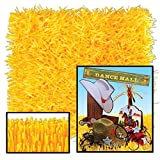 Club Pack of 24 Novelty Golden-Yellow Tissue Grass Mats 30