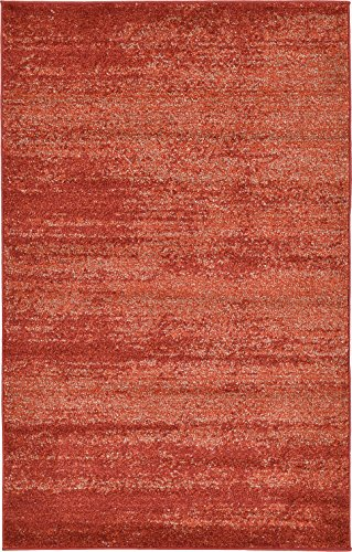 Over-dyed Modern Vintage Rugs Terracotta 3' 3 x 5' 3 FT Palma Collection Area Rug - Perfect for any - La Palma Collection