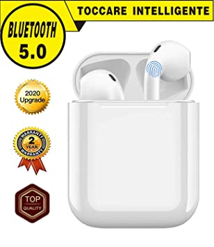 Auriculares Bluetooth Inalámbrico,Auriculares Bluetooth 5.0 con Micrófonos,Auriculares Deportivos Cascos Bluetooth inalambricos In-Ear con Caja de ...