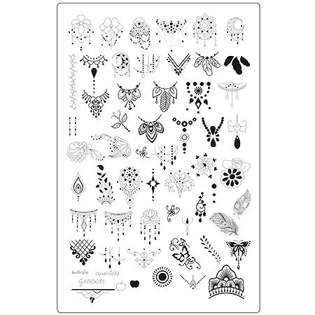 Lovenails XXL Mandala Stamping Schablone 3 I Traumfänger und Federn für tolle Nailart I Stempel Platte mit ausgefallenen Must