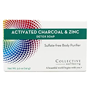 Life-Flo Collective Wellbeing Detox Soap (Active Charcoal/Zinc), 5 Ounce