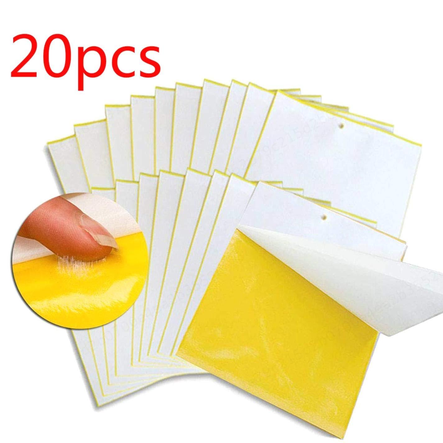 Sepikey Panneau attrapant Volant Plaque Anti-Insectes Double Face 20pcs