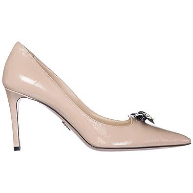 80e1b03f9908 Prada Escarpins Chaussures Femme à Talon en Cuir Rose EU 38.5  1I824I 3D15 F0G44 F 085