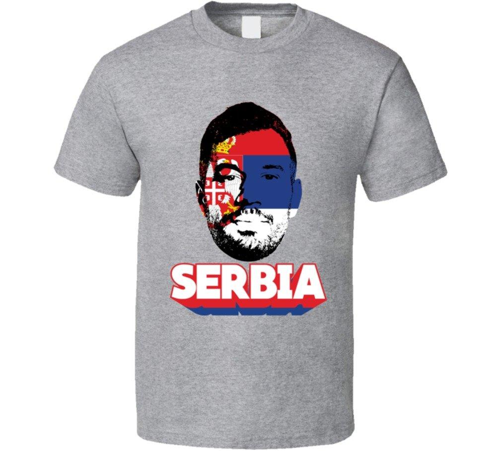 Luka Milivojevic Serbia Flag Big Head Cool World Cup Fan T Shirt 5960