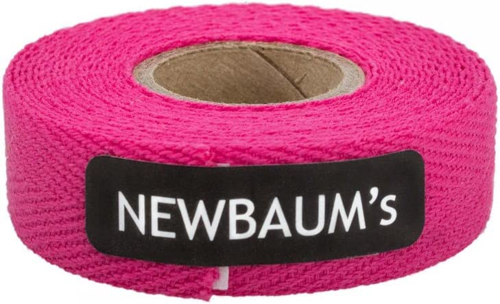 Newbaum's Cotton Cloth Bicycle Handlebar Tape HOT Pink Road Track Fixed