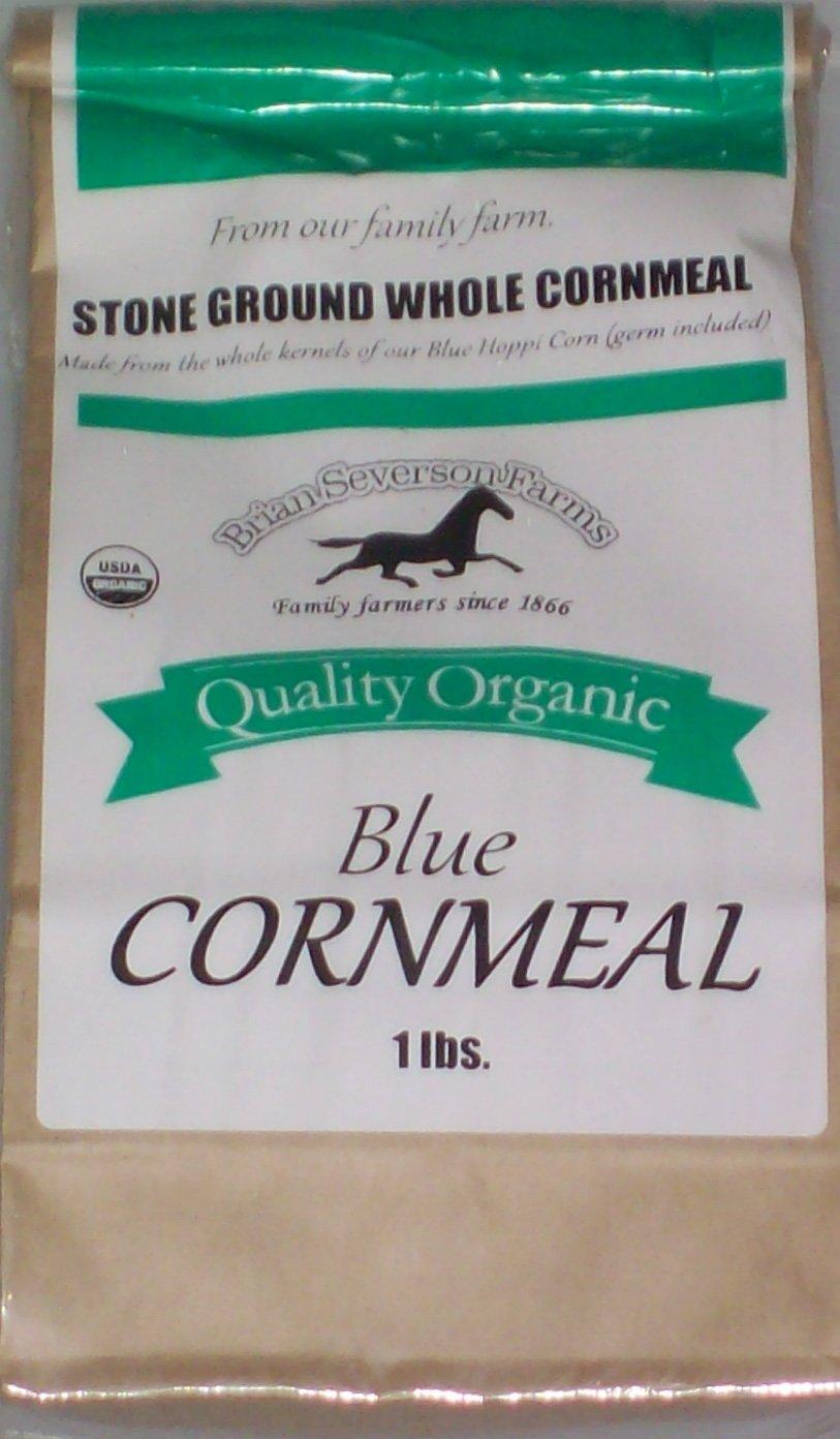 Organic Blue Hopi Cornmeal, Fresh Stone Ground, Farmer Direct, non-GMO 1 lb.