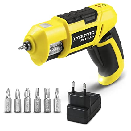 TROTEC PSCS 11-3,6V Taladro atornillador de batería con cambiador de ...