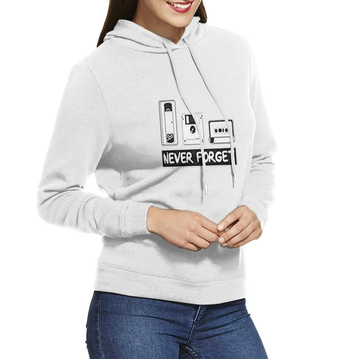 Video Tape Fantastic Girl Casual Hooded DERTYV Womens Sweater Never Forget