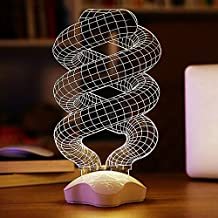 Novelty 3D Acrylic LED Optical Illusion Visualization Art Sculpture Night Lights Desk Lamp with Touch Control Lucky Clover Base for Home Decoe Art Decor -Unique Lighting Effects (Energy-saving lamps)