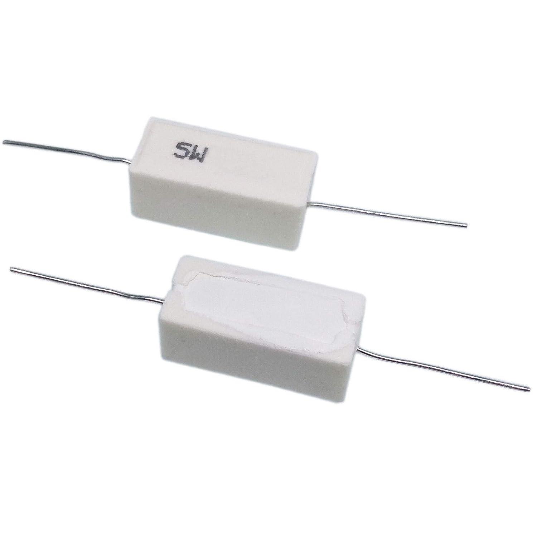US Stock 10pcs 0.22 ohm 0R22?J 5 watt Axial Ceramic Cement Power Resistor 5W