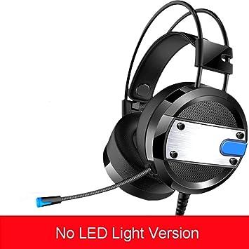 Stereo Gaming Headset con micrófono para PC, LED de luz Cool Style, reducción de ruido para