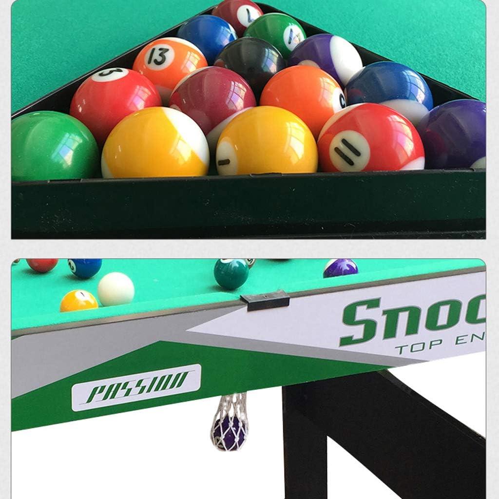 pool table MMM@ Mesa de Billar Plegable Inicio 1.25 Metros Mesa de Billar Mesa de Billar Infantil Entretenimiento Familiar Billar Americano Clubes de Madera Maciza Bolsa de Bolas de Gran Capacidad: Amazon.es: