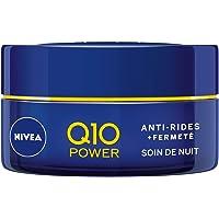 NIVEA Q10 Power Soin de Nuit Anti-Rides +Fermeté (1x50ml), crème anti-âge enrichie en Q10 & 10X plus de créatine, crème hydratante, soin visage femme régénérant
