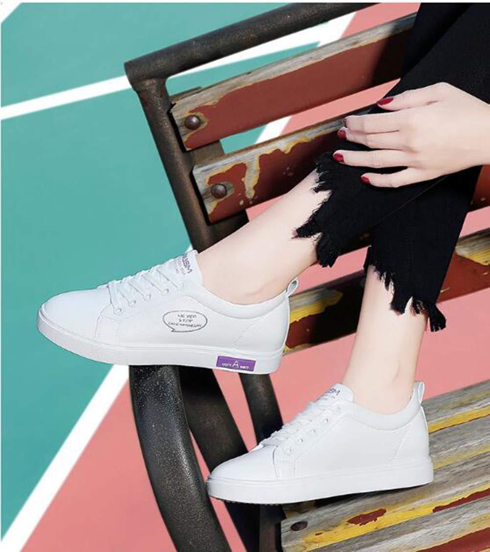 He-yanjing Weibliche Casual-Schuhe, 2019 Frühjahr Neue Runde Kopf Sports Style Style Style Einzelschuhe mit Solid Farbe Waterproof Platform damen ' s schuhe,b,39  19ef00