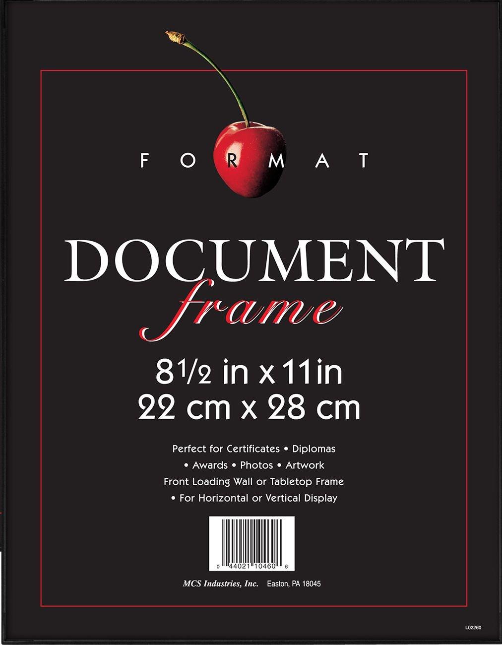 MCS 8.5x11 Inch Format Frame, Black (40957) by MCS