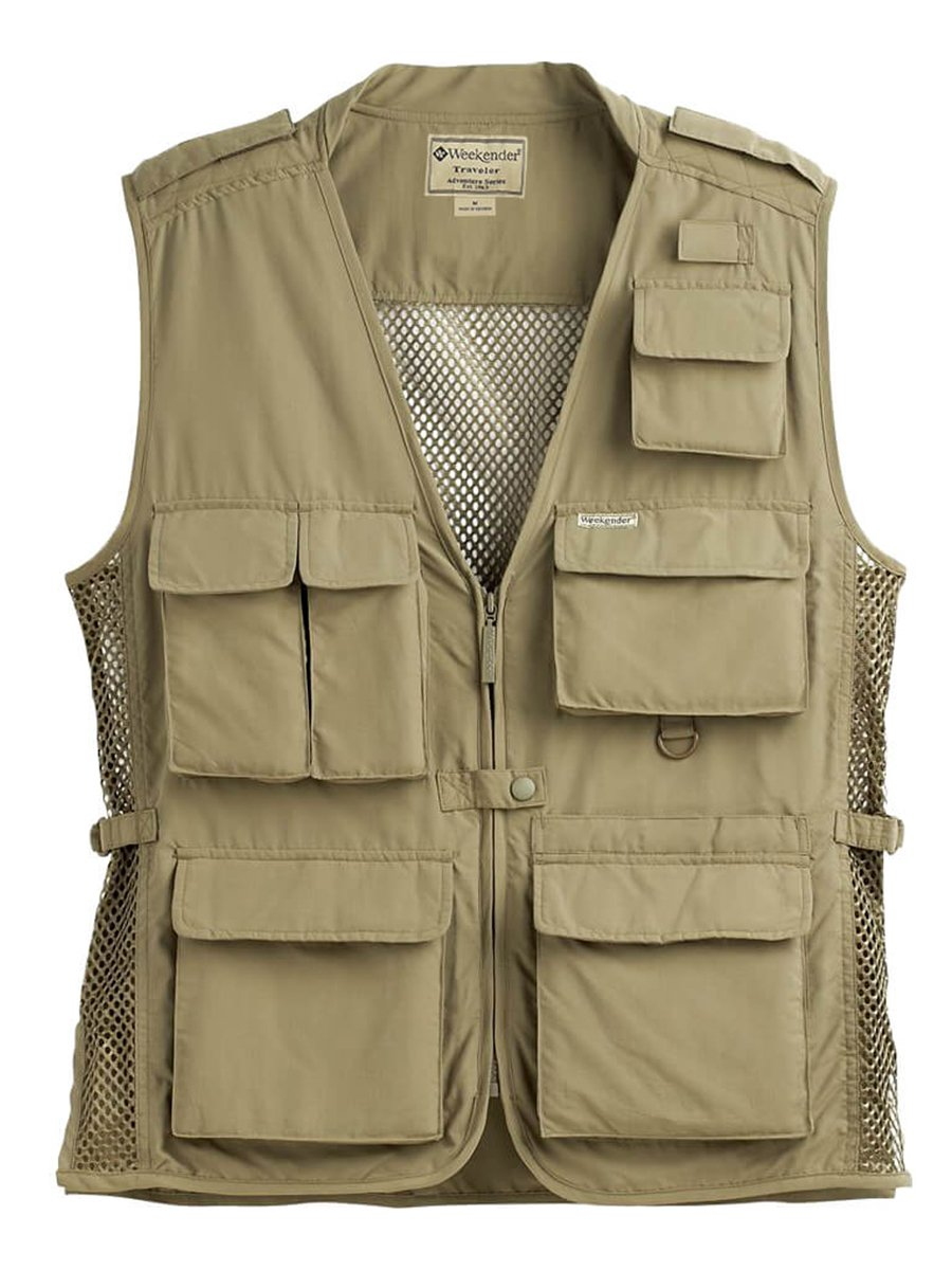 Weekender Traveler Air Vest - m020090,Khaki Large