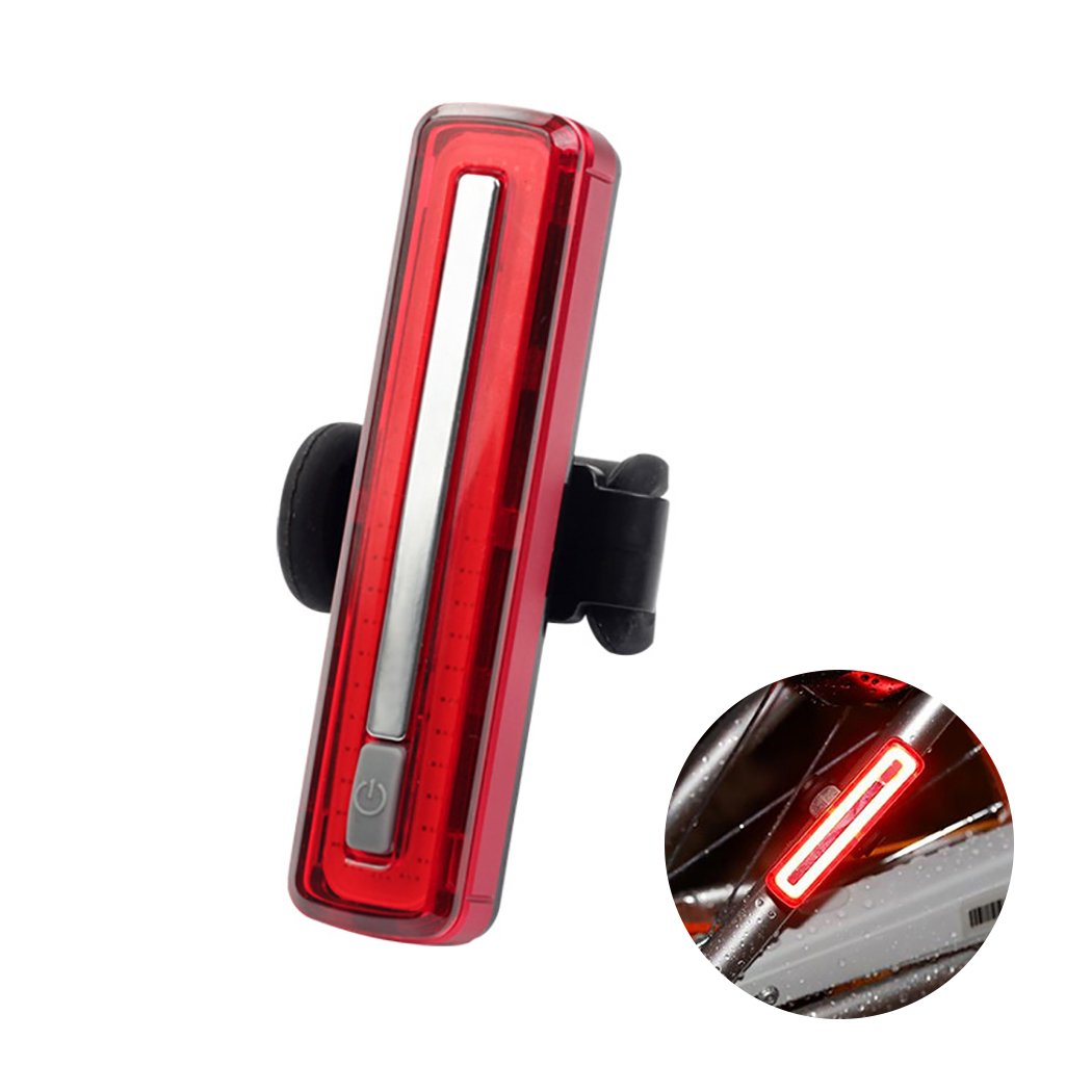 Outgeek Bicycle Taillight USB Rechargeable Waterproof Outdoor Riding Rear Lamps Safety Night Warning Bike Light