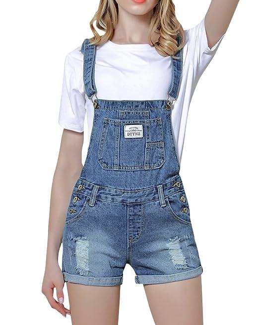 1fc2e05f5 Mujer Cintura Alta Pantalones Cortos Shorts De Mezclilla Casual Jeans   Amazon.es  Ropa y accesorios
