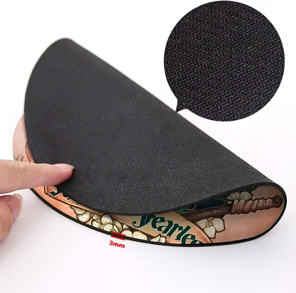 Gaming and Home DISNEY COLLECTION Round Mouse Pad Merida Light Slim Skid Proof High Mouse Tracking for Office