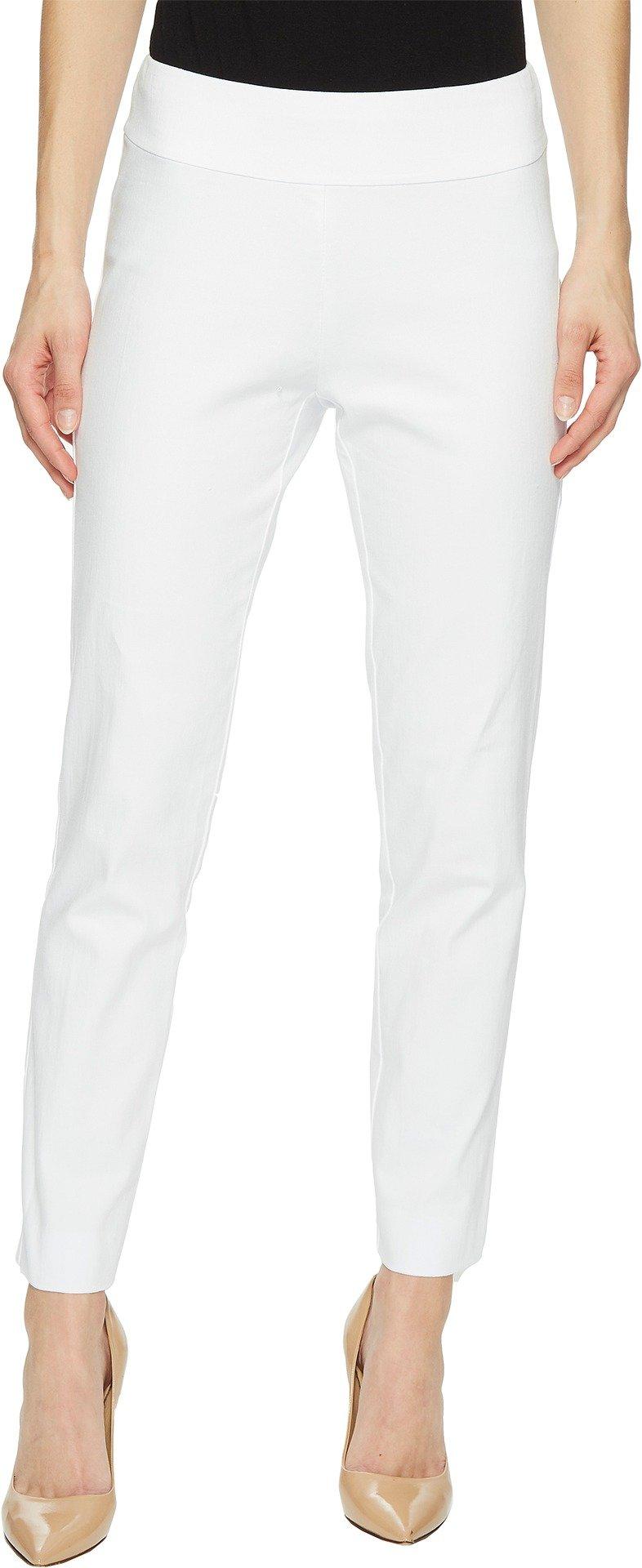Krazy Larry Women's Pull-On Denim Ankle Pants White 14 28