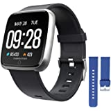 ZKCREATION Smart Watch Heart Rate Monitoring Fitness Tracker with Sleep Monitoring Blood Pressure Stopwatch Pedometer Sport W