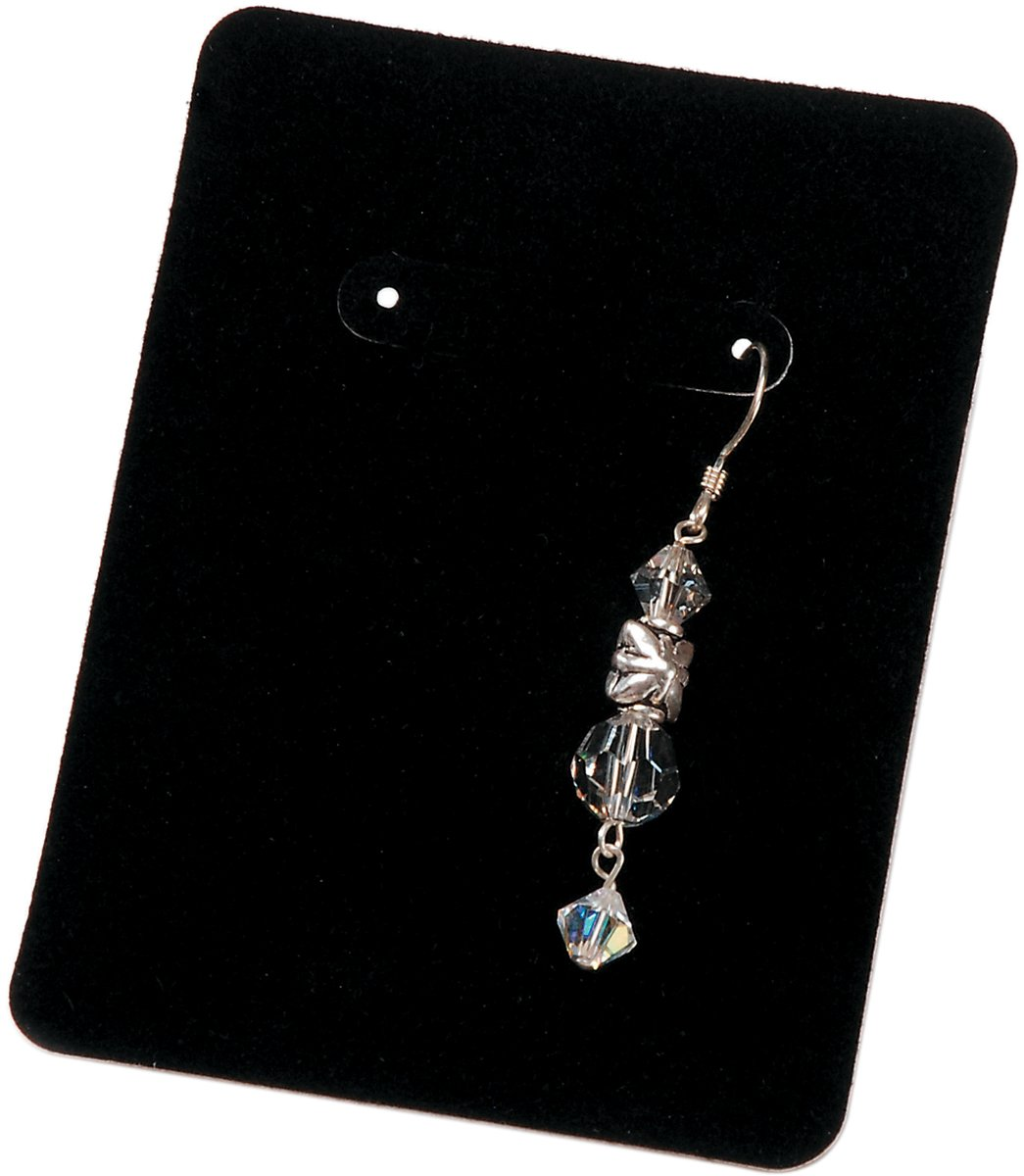 Darice Earring Display Cards, 3.25 by 2.5-Inch, Black Velvet, 30-Pack 1893-33