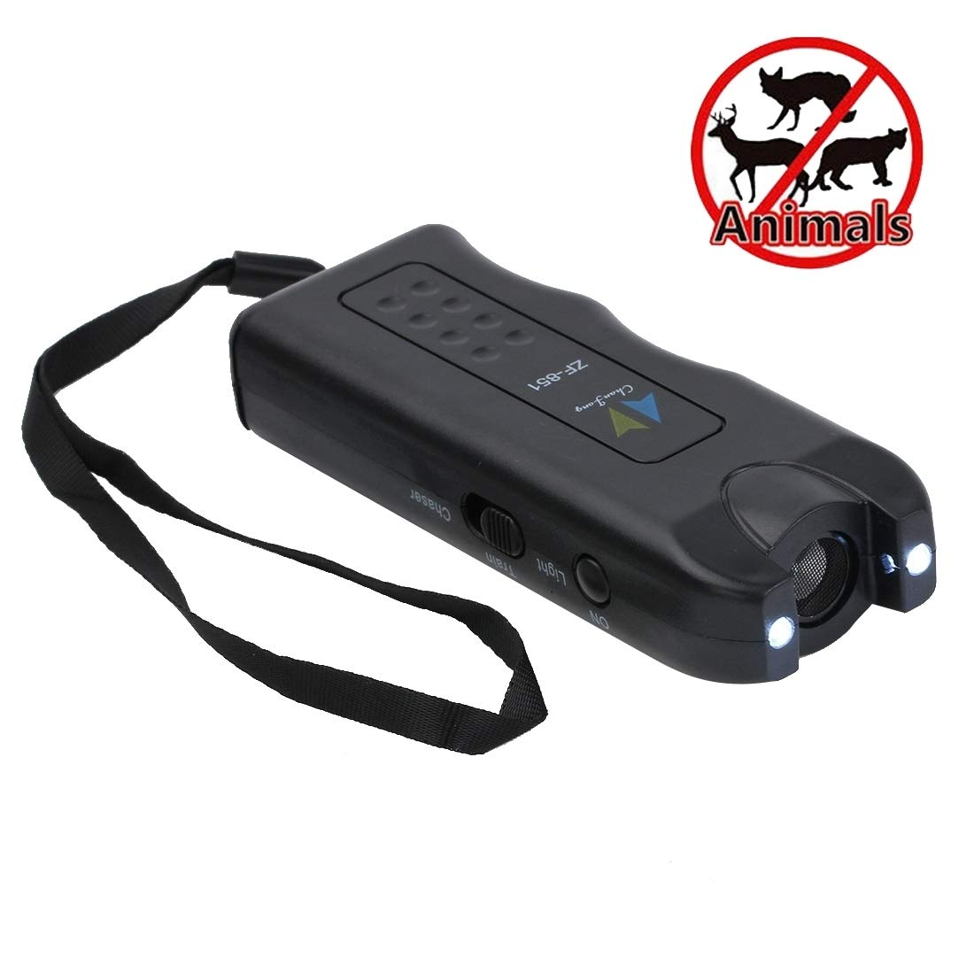 Perfect Home Ultrasonic Dog Chaser with 2 flashlights, ABS Material. Power  1 x 6F22 9V Durable