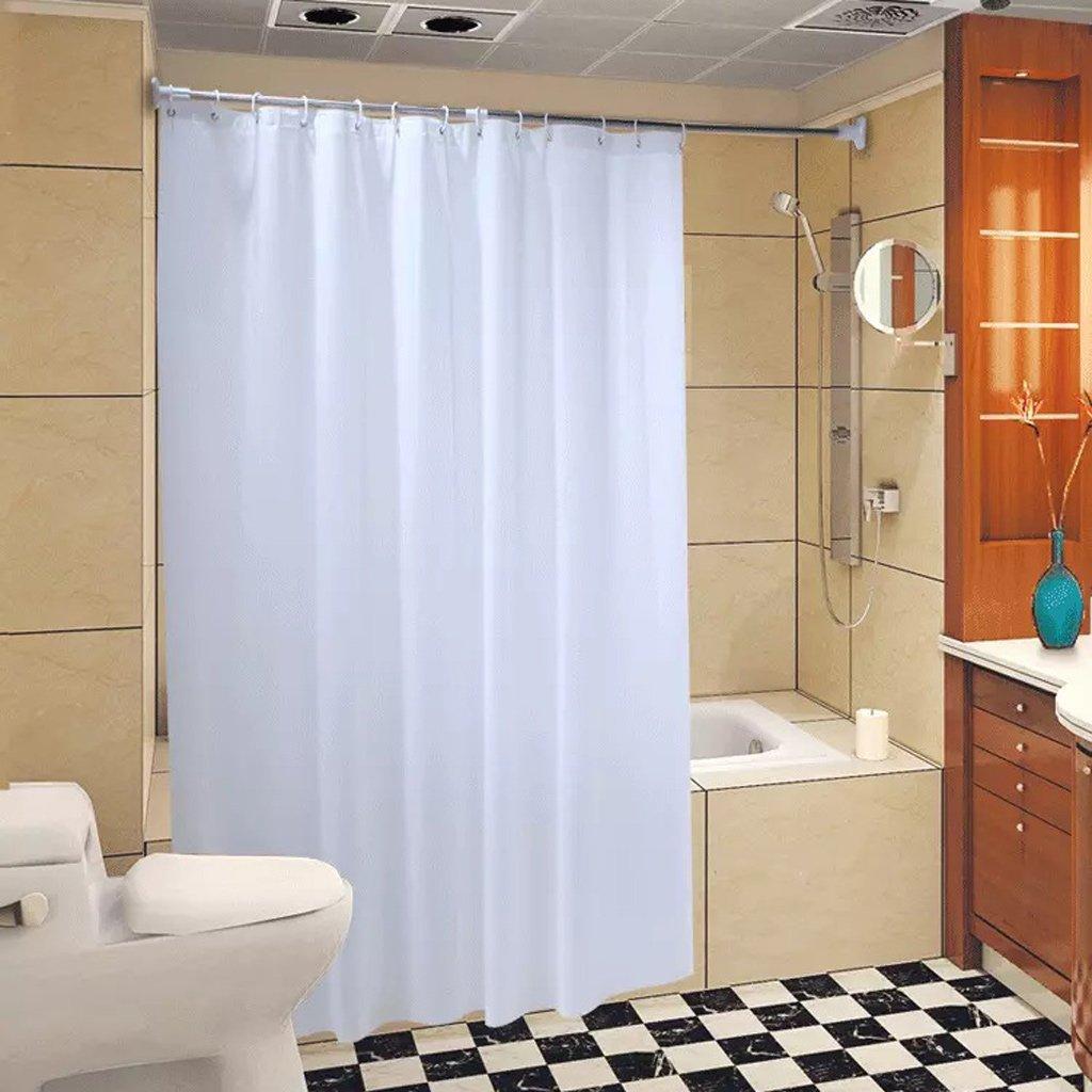 Curtain Shower Curtain, Thick Mildew Shower Curtain, White Shower Curtain, Waterproof Odorless Shower Curtain Shower Equipment (Size : 220200cm)