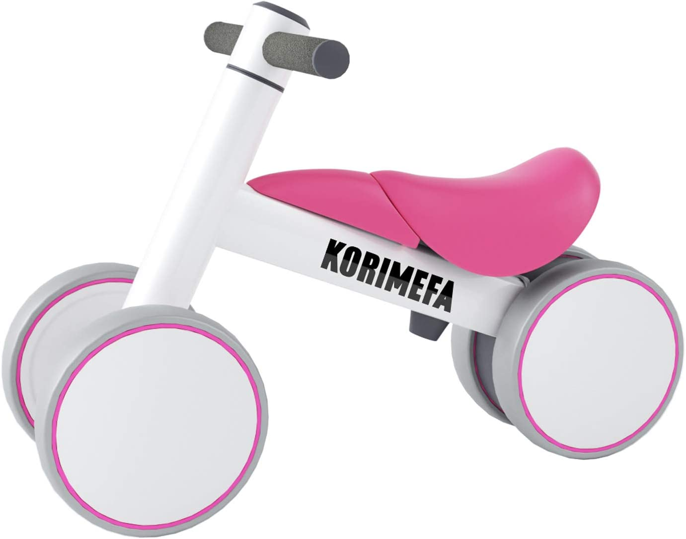 KORIMEFA Bicicleta de Equilibrio para Bebés 10-36 Meses sin Pedalescon 4 Ruedas Ultraligera y Triciclos Bebes, Correpasillos Bebes 1 Año