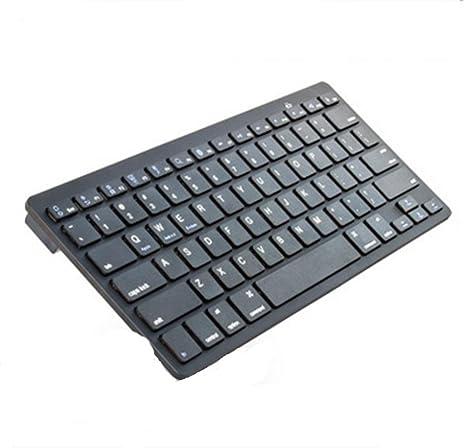 Kitzen 78 Teclas Bluetooth Ultra Thin Notebook Escritorio computadora Teclado Inalã¡Mbrico, blackAdecuado para