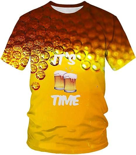 KIYOUMI - Camiseta de manga corta para hombre, diseño de burbujas, cuello redondo: Amazon.es: Deportes y aire libre