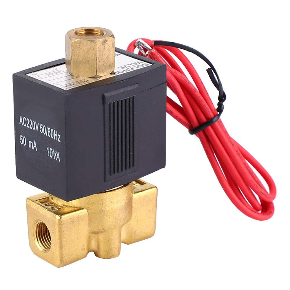 Normally Open SMC Type NO 2-Way 0-1.0Mpa Air Solenoid Valve AC 220V PT1//8 Direct Acting Solenoid Valve Electric Solenoid Valve