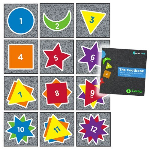 Flagship Carpets Games (Sidewalk Math Counting Dragons Carpets Squares & Footbook Set)