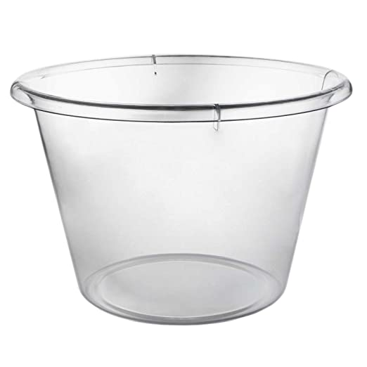 Large I... 10 Litre Plastic Ice Bucket Brushed Aluminium Effect Ice Cube Bucket