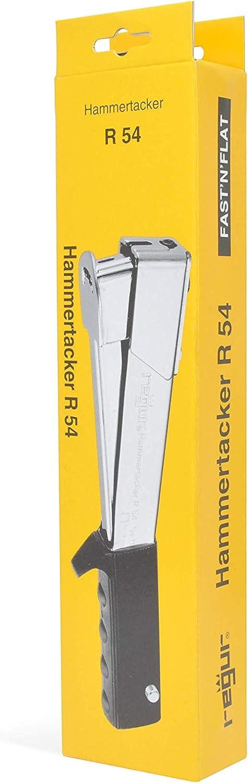 REGUR Hammertacker 20 robuster Schlagtacker mit rutschfestem ergonomischem Handgriff Teerpappe Folien 5000 St/ück Regur Typ 11//8mm Flachdraht-Klammern zur Befestigung von Dachpappen inkl