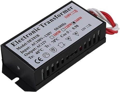 160W Electronic Transformer AC 110V to 12V for G4//G5.3 Halogen Lamp Power Supply