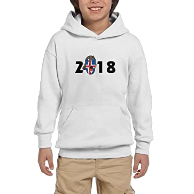 2018 Soccer Fans Iceland Youth Pullover Hoodies Athletic Pockets Sweatsuit