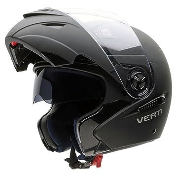 NZI 150207G093 Verti Casco de Moto, Color Goma Negro, Talla 64 (XXXL)
