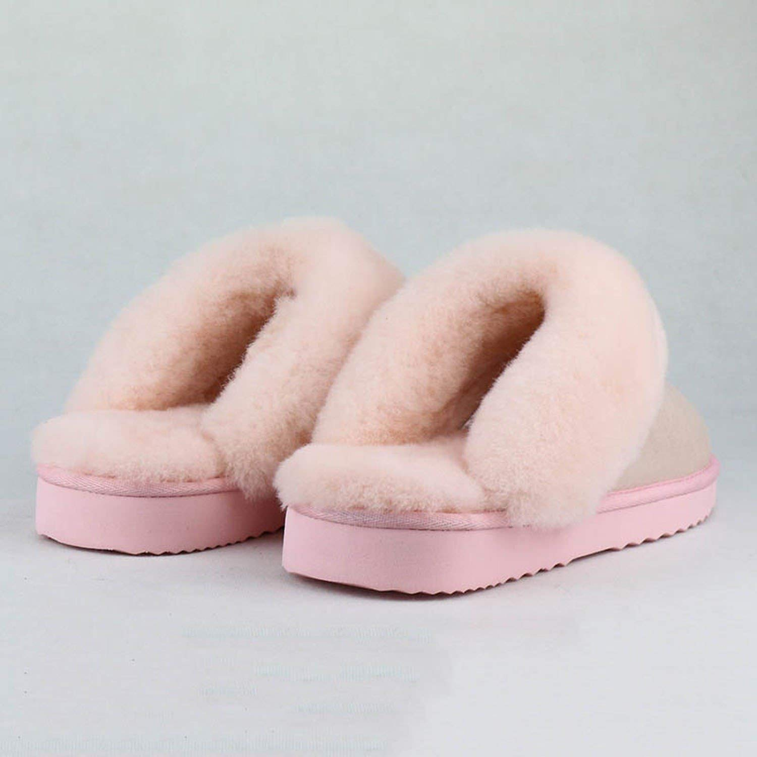 Slippers Fashion Female Winter Slippers Women Warm Indoor Slippers Soft Wool Lady Home Shoes