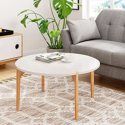 Universal Experts FUTB10013A Coffee Table, Oak/White - Modern design and Shape Mix of solid wood and white materials Functional style for Urban living spaces - living-room-furniture, living-room, coffee-tables - 61e0KhJIfCL. SS400  -